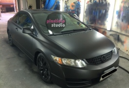 Honda Civic черный мат plastidip